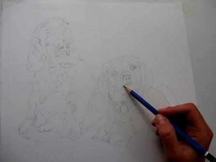 dog drawing sketch