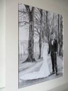 bride groom drawing