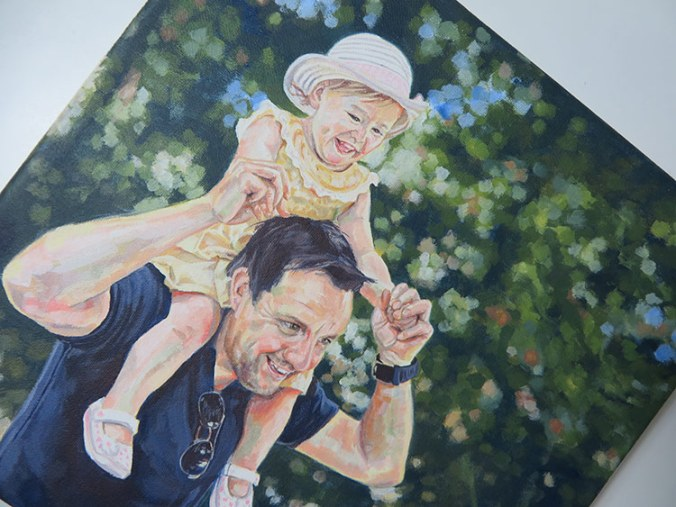 dad daughter painting