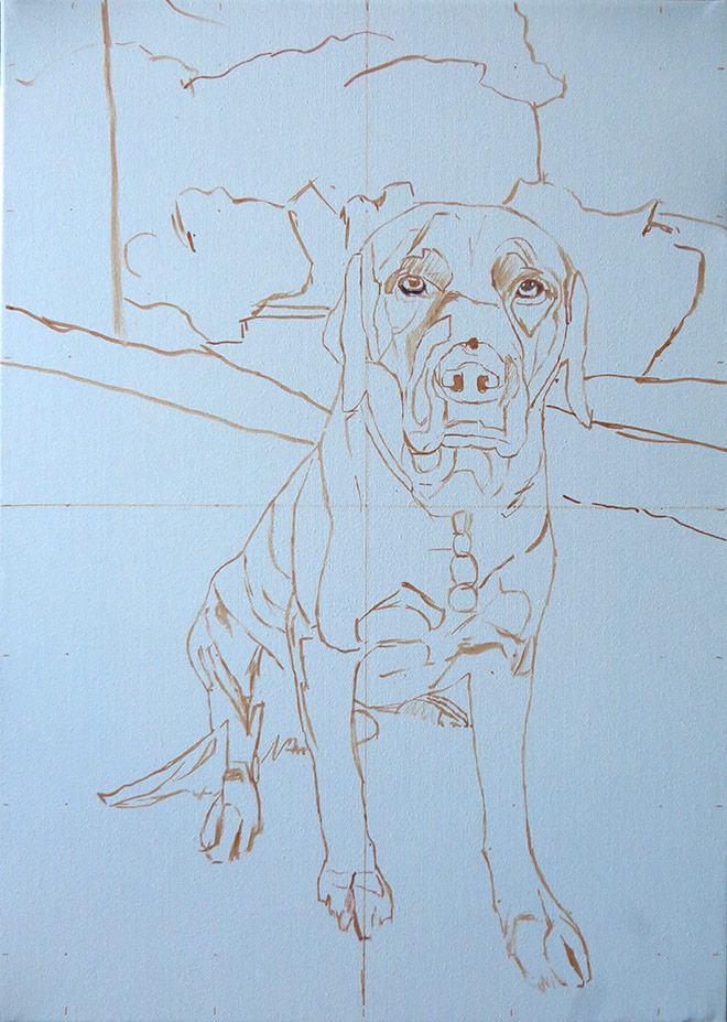 preliminary sketch for a portrait