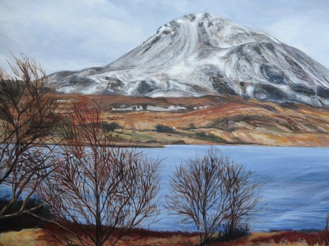 a detailed view of the Mt Errigal painting