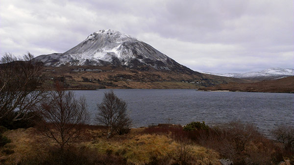 reference photo for the painting of Mt Errigal