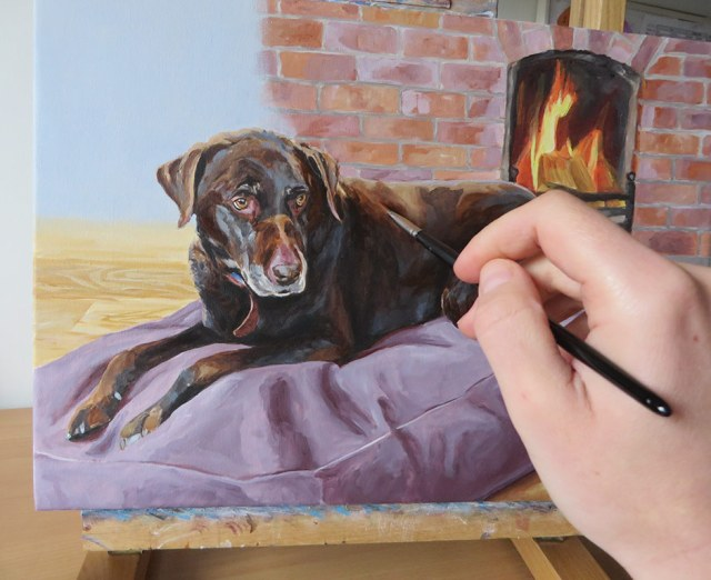 adding details to the portrait of Otto