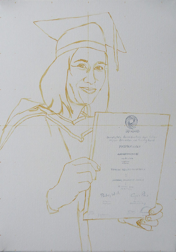 first sketch of the portrait