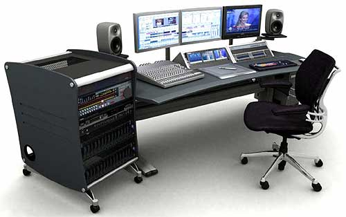 Professional Video Editing Desk