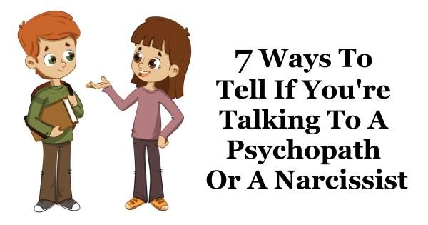 talking to a narcissist