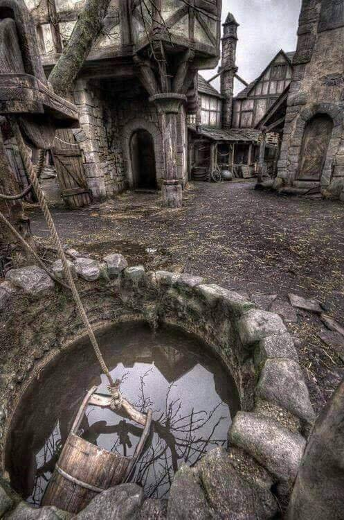 An abandoned village in Scotland.. :o