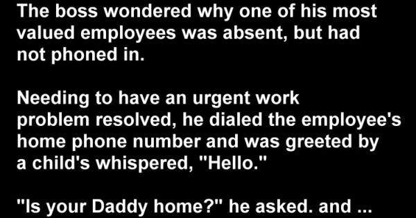 Naughty Kids Joke: I Wonder Where the Heck My Employee Is