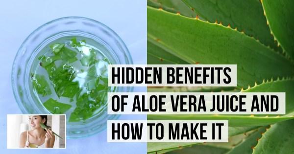Hidden Benefits of Aloe Vera Juice and How To Make It