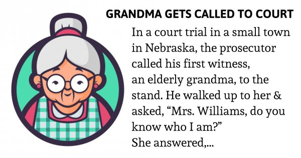 Grandma gets called to court – what she reveals on the witness stand shocks everyone