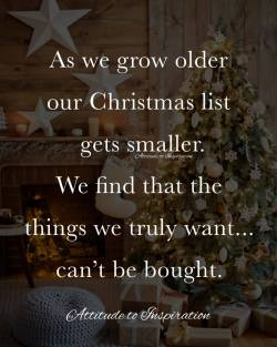 <3 As we get older our Christmas list gets smaller …
