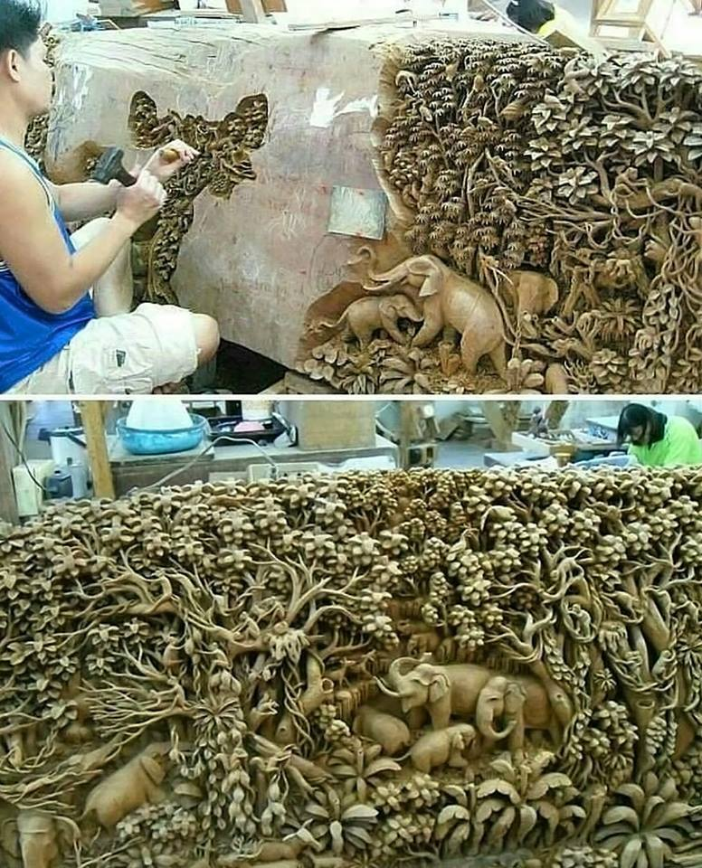Carved out of solid rock. Incredible Artwork