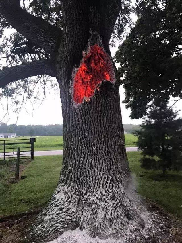 Burning from the inside after being struck by lightning…