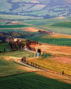 Peaceful valley  Val d'Orcia, Tuscany, Italy.