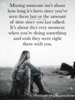 Missing someone …