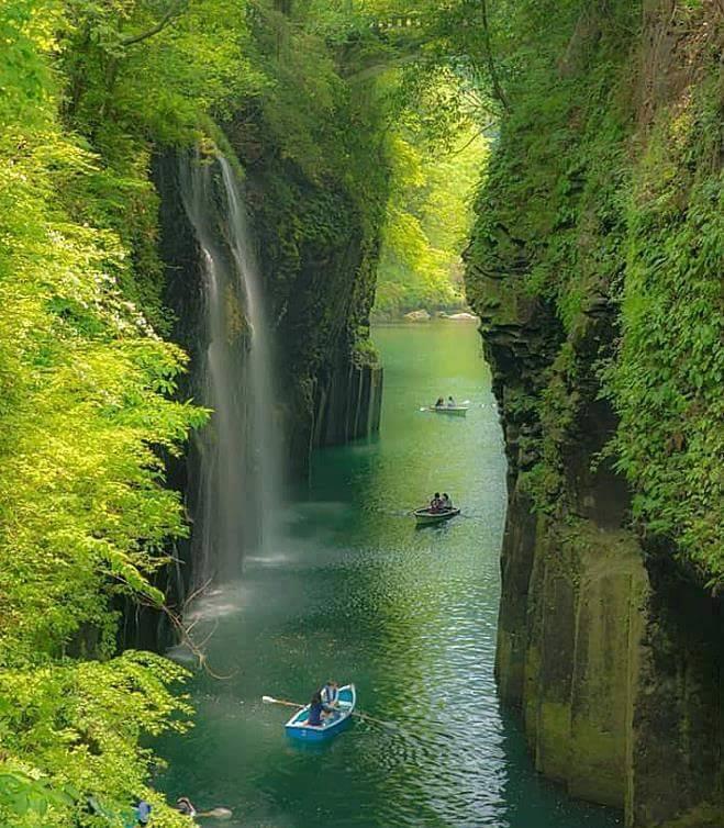 Waterfall canyon, Takachiho, Japan
