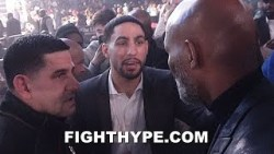 "DANNY GARCIA & BERNARD HOPKINS CROSS PATHS AND EXCHANGE ""TRUE INSPIRATION"" WORDS"