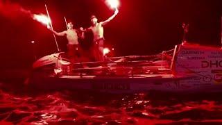 Daring duo breaks Atlantic Ocean rowing record