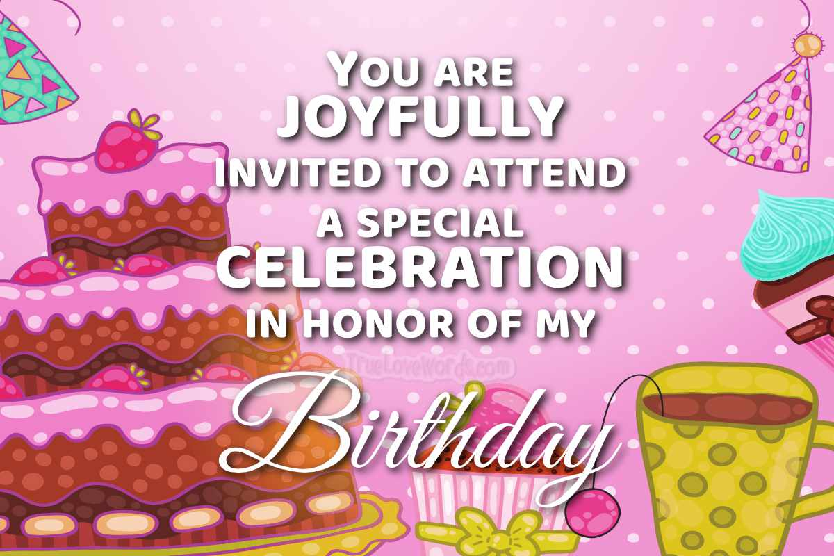 75 birthday party invitation messages