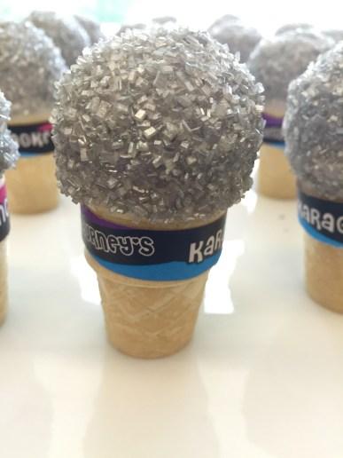 microphone cupcake cones