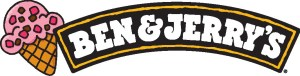 Ben & jerry logo with cone