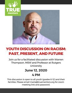 Youth Discussion on Racism: Past, Present, and Future @ Zoom