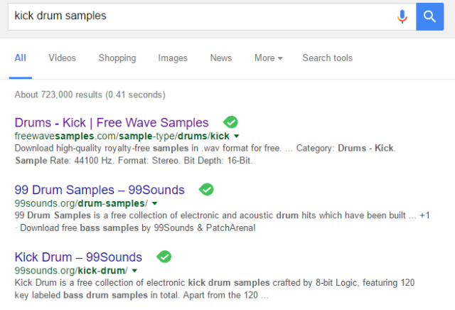 kick drum samples google search