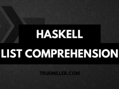 The featured image for an article on Haskell List Comprehension
