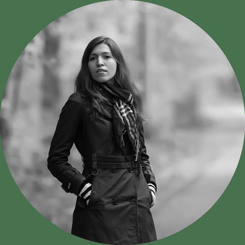 Oksana Ossipov, black and white portrait