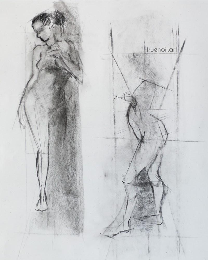 Runaway, charcoal drawing