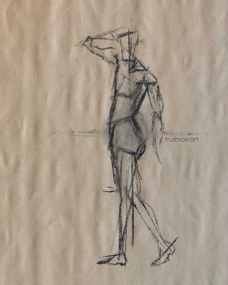 Male figure, gesture drawing