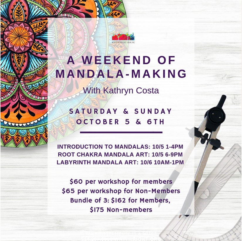 A weekend of mandala making with Kathryn Costa at The Wainright House.