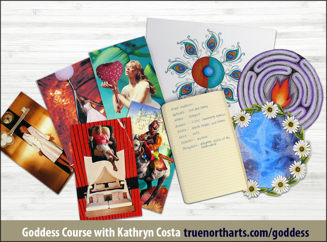 There are so many creative possibilities in this Goddess Course from creating SoulCollage cards, mandala art, paintings, jewelry and more!