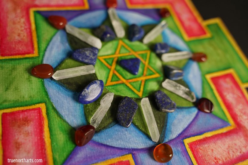 Virgo New Moon Crystal Grid inspired by the Mercury Yantra