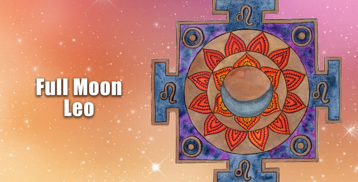 How to create a full moon in Leo healing mandala.