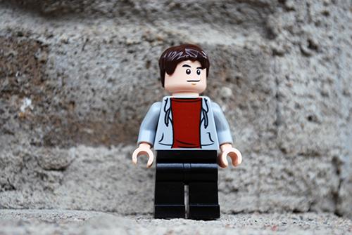 LEGO Jurassic World Zach Front View