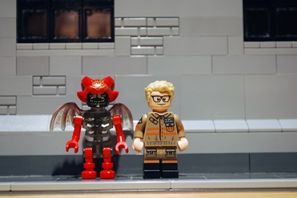 LEGO Ghostbusters Mayhem & Kevin front view.