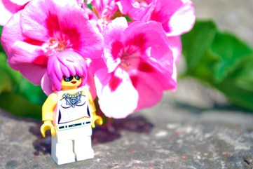 LEGO Minifigure at the Montreal Botanical Gardens.