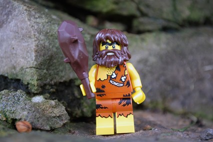 LEGO Caveman front view