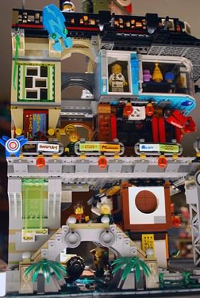 LEGO Ninjago City from the side.