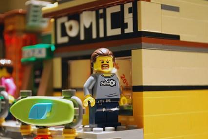The comic book shop in LEGO Ninjago City.