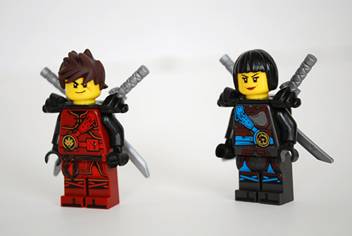 LEGO Dragon's Forge (70627) Kai & Nya - front view.