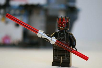 LEGO Darth Maul front view.