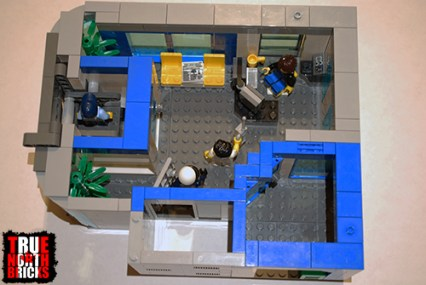 Overhead view of level 3 of my police station.