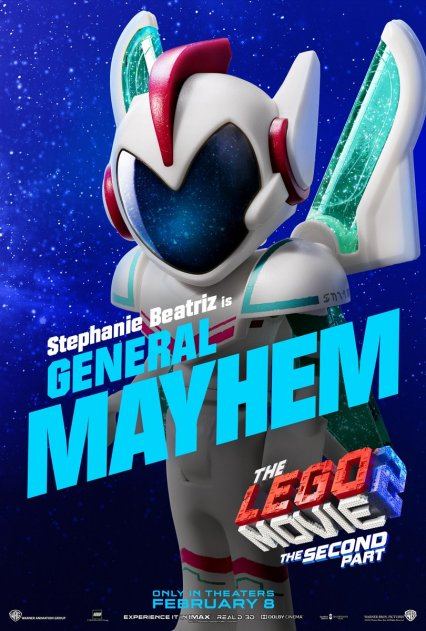 Official LEGO® Movie 2 General Mayhem poster.