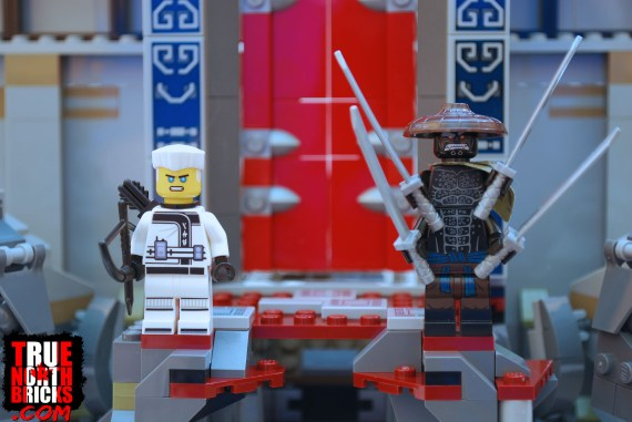 Zane and Garmadon from the Temple of the Ultimate Ultimate Weapon.