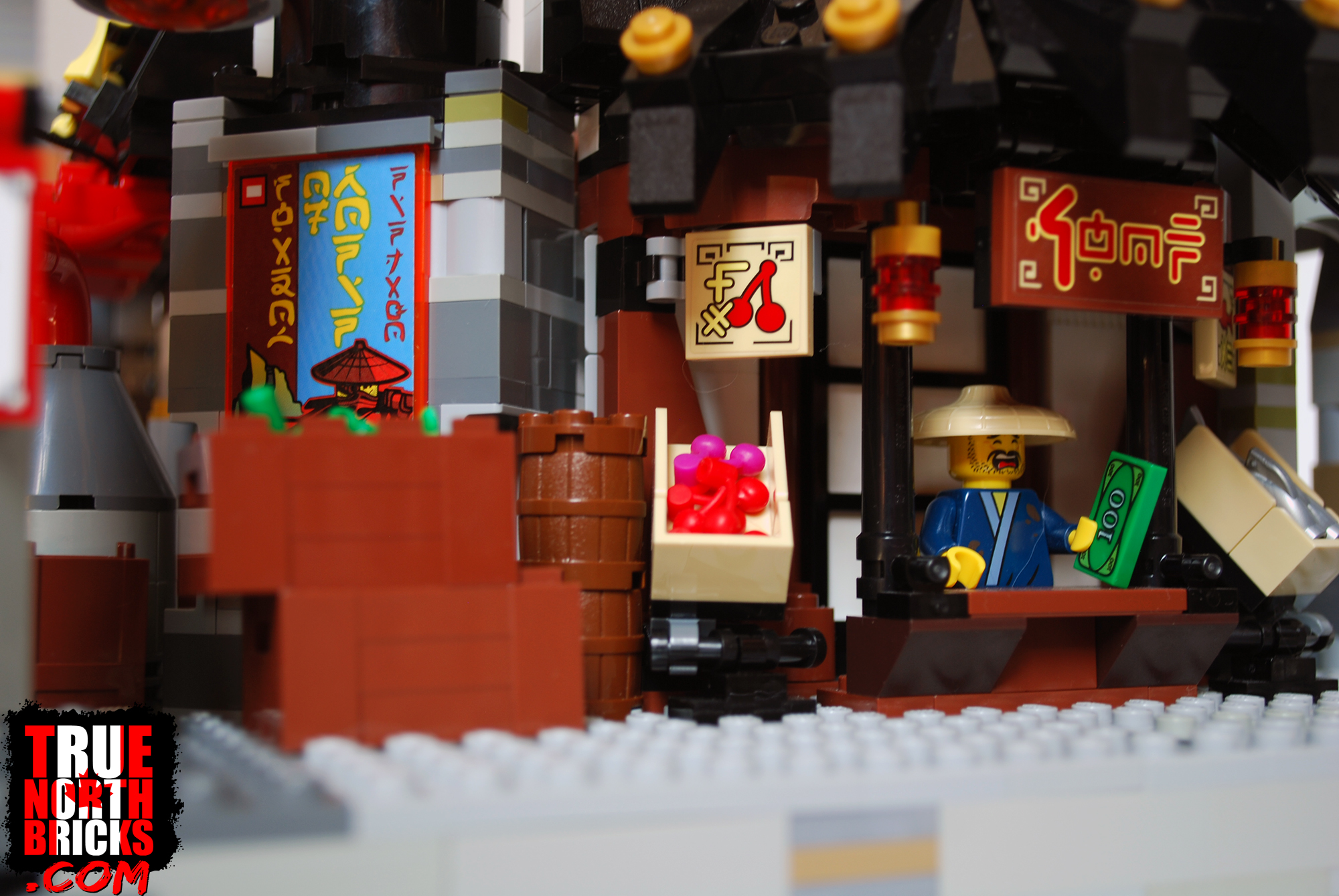 I modified the Ninjago City Chase set to suit my market needs in this build.
