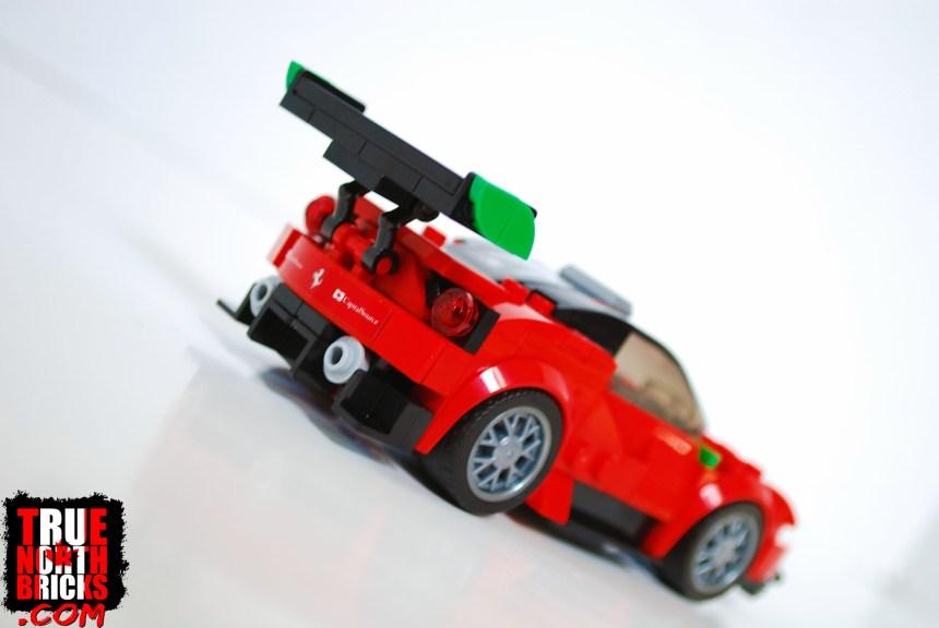 Rear view of Ferrari 488 GT3.