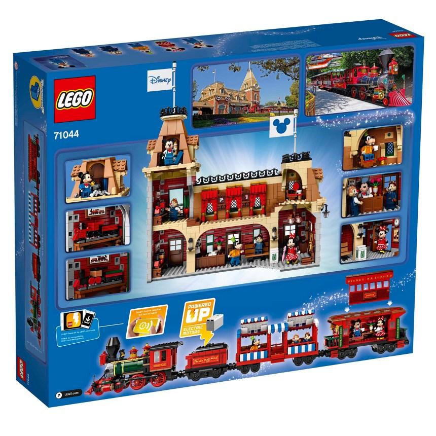 Disney Train and Station rear box art