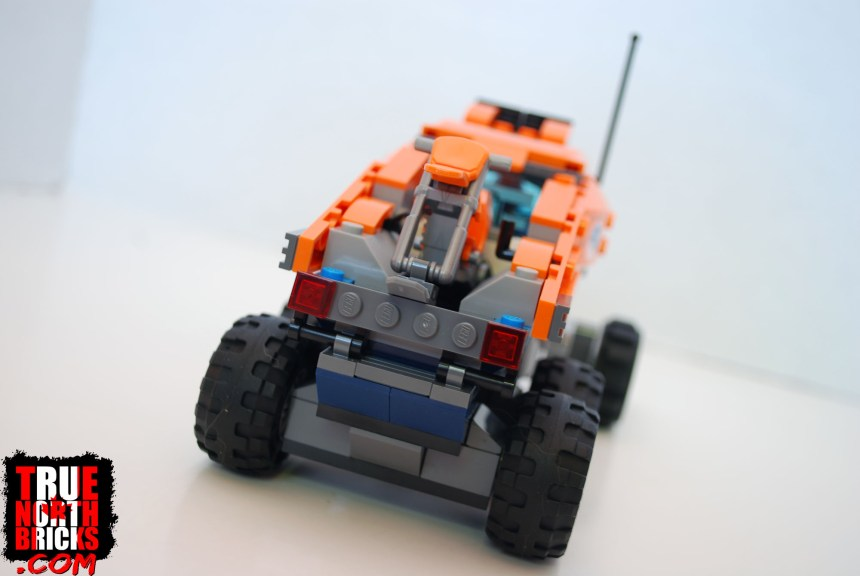 Rear view of the Arctic Scout Truck.